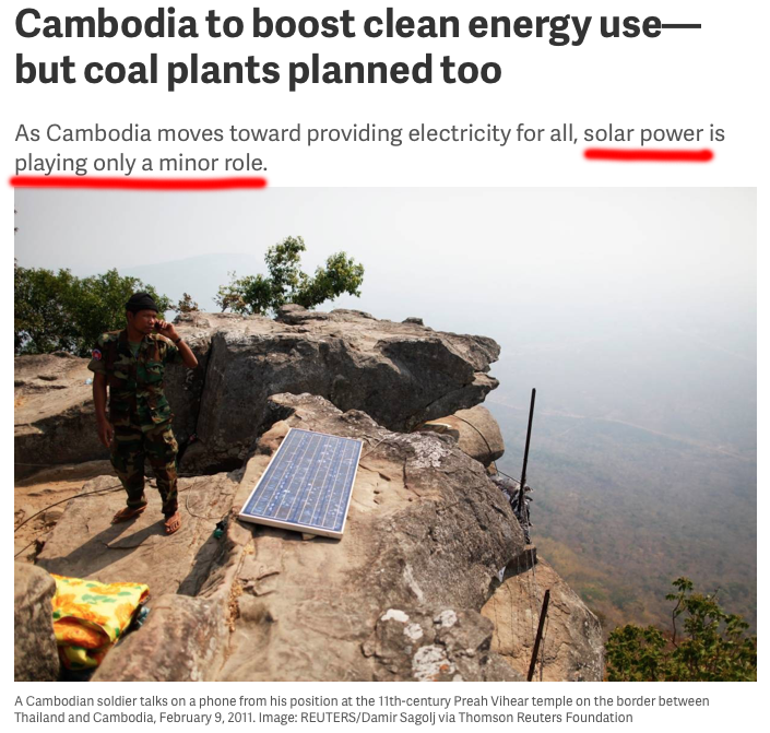 Cambodia turns to coal for nationwide electrification   Burn More Coal