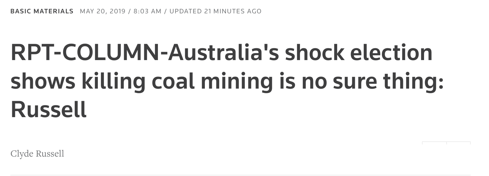 Australia's shock election shows killing coal mining is no sure