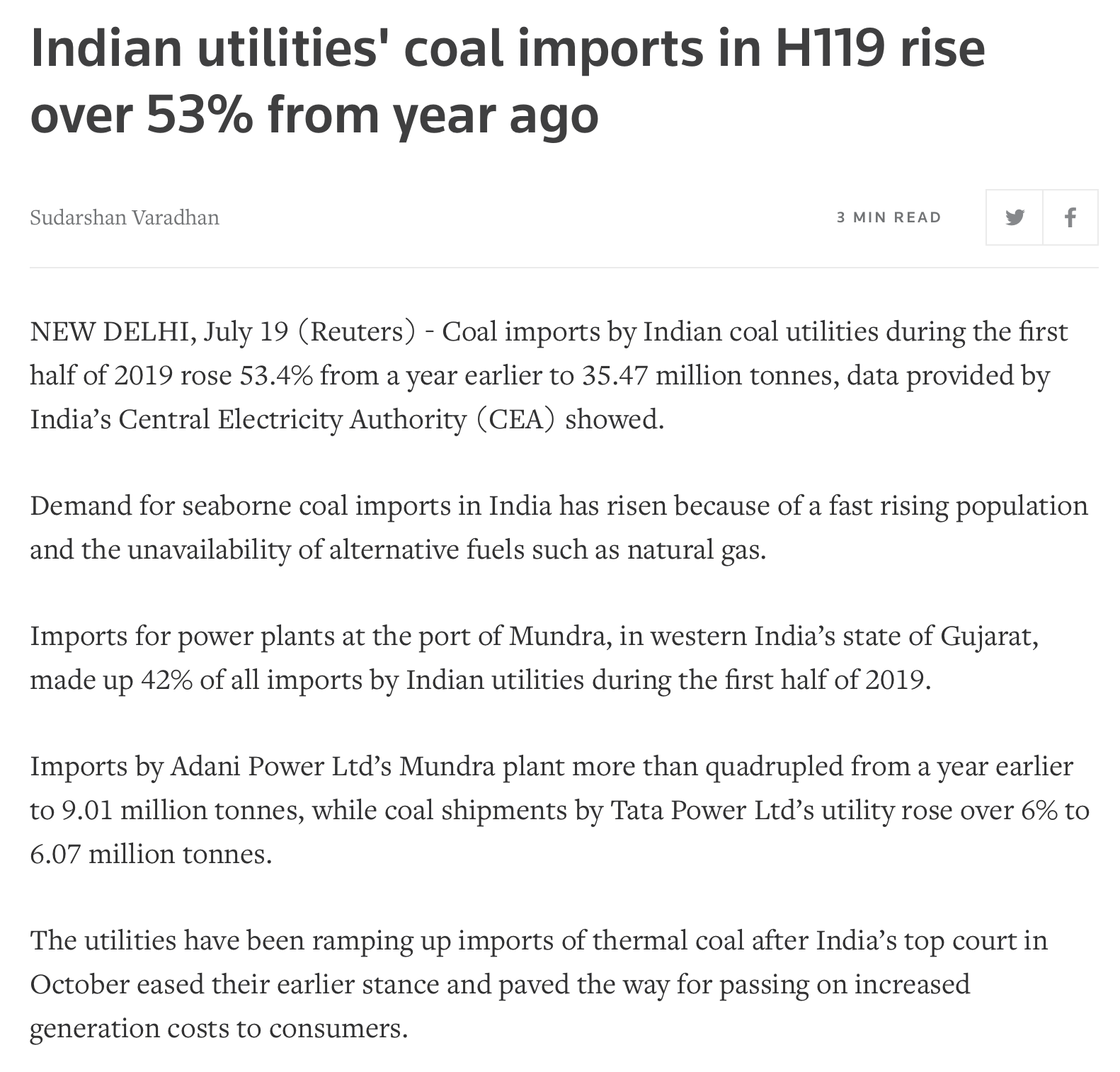 India | Burn More Coal